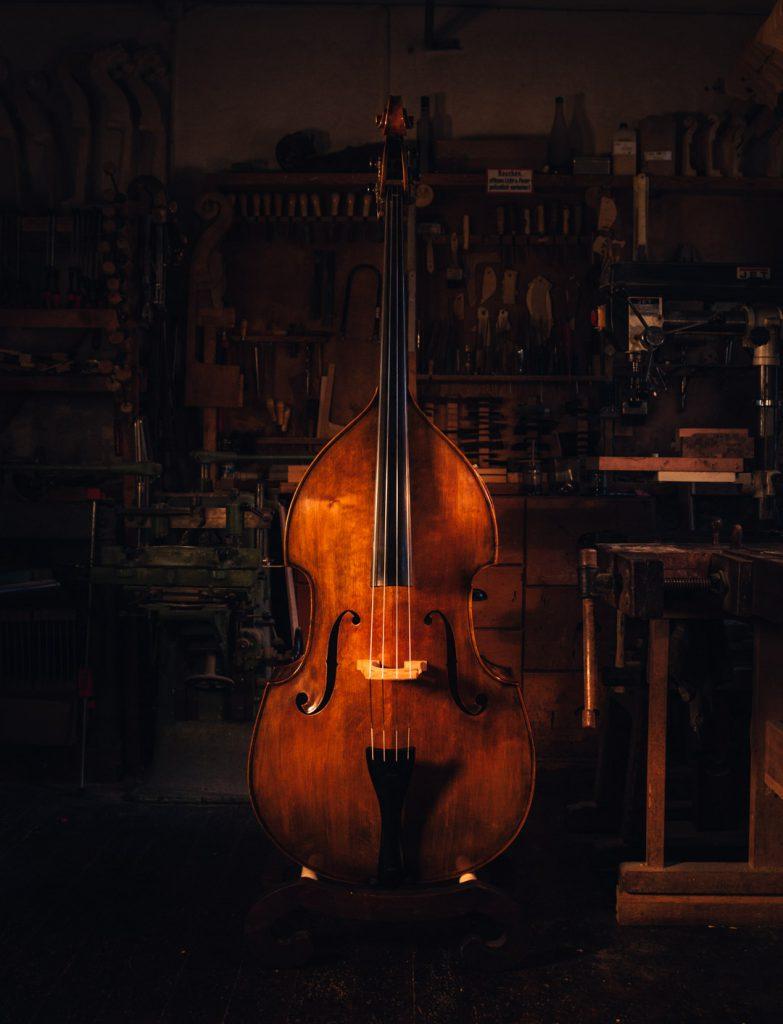 Marko Ackert double bass shiny 4 strings top instrumente